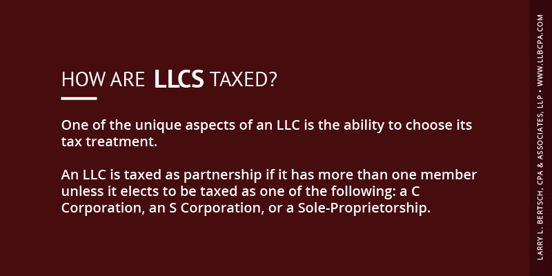 how are llcs taxed?