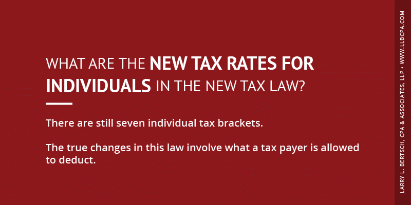 what are the new tax rates for individuals?
